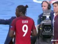 Nerwowy Ronaldo podczas Turnieju EURO