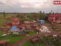 Trąba powietrzna powaliła domy w Bogaczewie!
