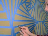 Chcesz mieć oryginalny wzór na ścianie? Użyj zwykłej taśmy klejącej