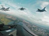 Defilada lotnicza Szczyt NATO Warszawa 2016 [Film 360°]
