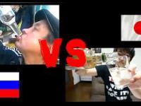 Pojedynek w piciu wódki Rosja vs Japonia