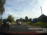 Zderzenie dwóch motocyklistów