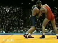 Zapasy: IO Atlanta 1996. Walka o brązowy medal - J.Tracz