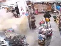 Ugasił napad na sklep