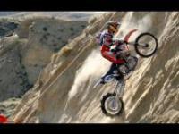 Zawody próby wjazdu motocyklem na bardzo stromą górę