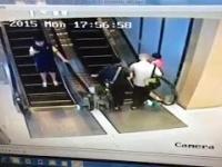 Pierwszy raz na ruchomych schodach