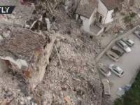 Nagranie z drona pokazuje skalę zniszczeń w Pescara del Tronto