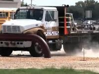 Test ogrodzenia dla samochodów ciężarowych