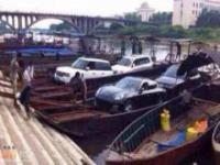 Chińska łódź do przemytu samochodów