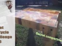 Tajna skrytka w stoliku z palet