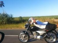 Superman na motocyklu