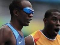 Półfinały biegu na 100m kategoria T11 podczas paraolimpiady