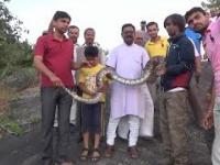 Selfie z wężem