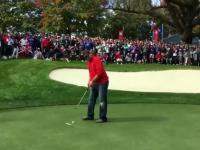 Fan wyśmiewa pro gracza golfa podczas Ryder Cup - Dostaje wyzwanie trafienia za $100