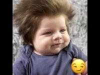 This 9-week-old baby has a ridiculous head of hair!