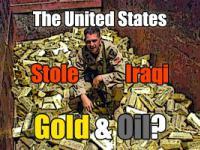 Powod dlaczego USA zajechalo Irak - proba rozliczania handlu ropa w EURo pokryta w zlocie. Zloto zrabowano, przejeto szyby naftowe.
