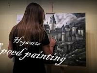 Harry Potter Hogwarts School - speed painting