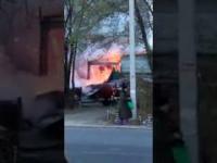 Pożar w fabryce fajerwerek
