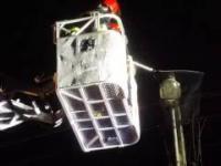 Ściąganie kota z latarnii, OSP Luboń