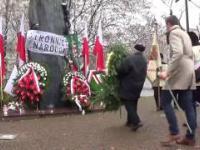 11.11.2016 Prez. Jaroslaw Kaczynski pod pomnikiem Romana Dmowskiego, Warszawa