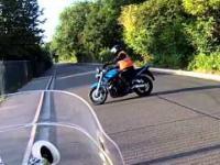 Kursant na motocyklu