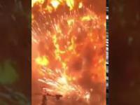 MEGA Eksplozja na stacji benzynowej! Tianjun, Chiny