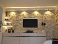 Handy man, Ściana TV, Kamień dekoracyjny,ozdobny,TV Wand, Multimedia,Home,interiors,design