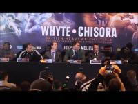 Chisora rzuca stołem podczas konferencji prasowej