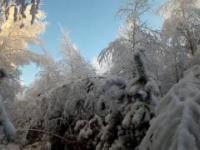 Niesamowita zimowa sceneria