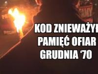 UWAGA! KOD zakłócał obchody ku czci zamordowanych w grudniu 1970 roku w Szczecinie