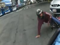Niesamowity pościg ulicami Sao Paulo za motocyklistą