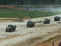 Prezentacja rosyjskich ciężarówek wojskowych
