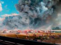 POŻAR FABRYKI FAJERWERKÓW / FIRE FIREWORKS FACTORY