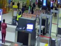 Wjechał samochodem na lotnisko