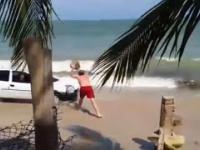 Oplem Corsą po plaży