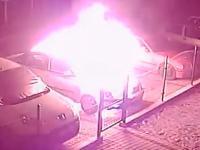 Podpalenie samochodu - Sylwester 2016, Mirsk