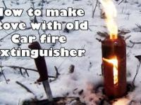 How to make stove with old Car fire extinguisher DIY