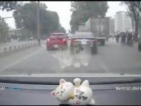 Kierowniczka kibla vs ciężarówka