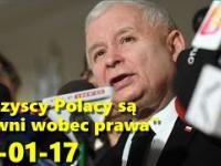 Jarosław Kaczyński po zakończonej okupacji sejmu