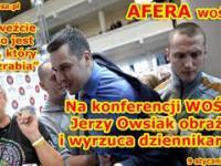 AFERA WOŚP - Na konferencji WOŚP Owsiak obraża i wyrzuca dziennikarza