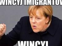 Marine Le Pen MIAŻDŻY Merkel: