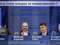 Kot Prezesa wygrał ranking szacunku do polityków opozycji depcząc konkurentów