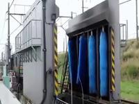 Dwie techniki mycia pociągów