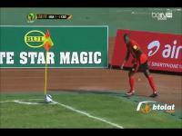 Rzut rożny w wykonaniu piłkarzy z Ugandy
