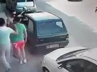 Nietypowy wyjazd z parkingu