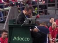 Sędzia znokautowany podczas meczu tenisa ziemnego