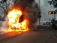 Pożar autobusu KLA w Ostrowie Wielkopolskim (03.02.2017)