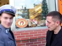 Marszałek Janusz Czubis spotyka policjanta z Bądli w Olsztynie BMW serii 7 z 500+