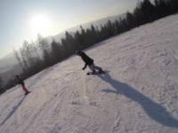 Zjazd na snowboardzie z GOPRO