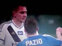 Pazio sprzedaje damskiego liścia Jędrzejczykowi Legia Warszawa - Ruch Chorzów (1:3) SLOW MOTION